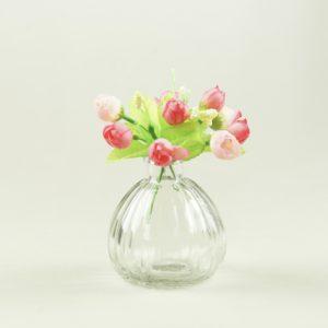 Blumenglas Glas für Blumen Flasche Fläschchen Obelix Hochzeit Dekoration1