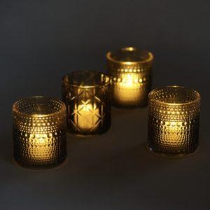 Blumenglas und Kerzenglas Blackyvin für Hochzeit als Tischdeko leihen beim Deko Verleih StasEvents Dekoration mieten