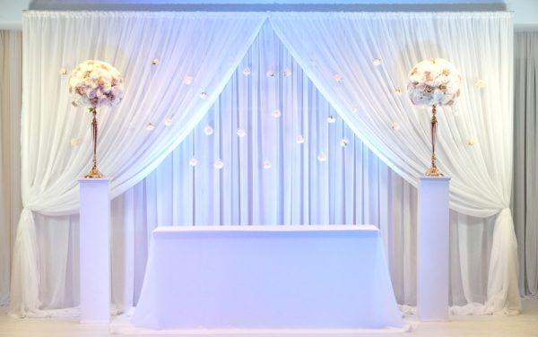 Brautpaartisch und Rückwand Set Kira für deutsch türkische russische Hochzeit mieten beim Deko Verleih günstig leihen StasEvents