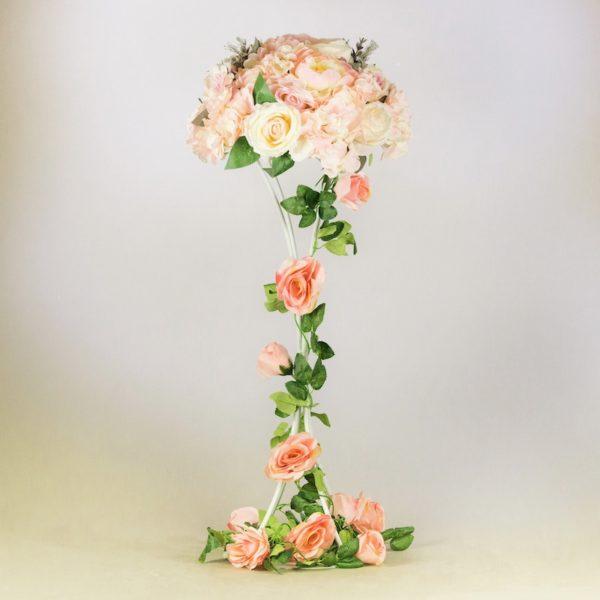 Curvy Blumenstämder weiss für hochzeit blumenvase mieten1