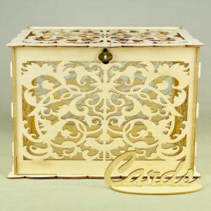 Geschenkebox für Geschenke und Karten für Hochzeit mieten und leihen in weiß verspielt barock wie vintage natur holz verleih stasevents 1