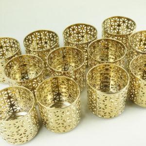 Gitterglas Gold Kerzenglas für Hochzeit und Event mieten und leihen Dekoration StasEvents 6