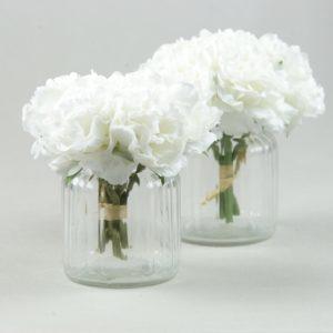 Gläschen und Glas für Blumen und Kerzen im Vintage Look mieten und leihen für Hochzeit als Hochzeitsdeko StasEvents 1