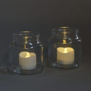 Glas Ronde für Blumen und Kerzen für Hochzeit und event mieten 1