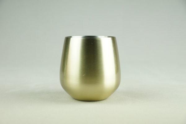 Glas aus Metall gold für Blumen als Tischdeko für Hochzeit mieten und leihen bei StasEvents Verleih 1