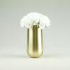 Glas aus Metall in gold für Blumen Blumenglas mieten und leihen als Hochzeitsdeko vom Dekorations Verleih Stasevents 1