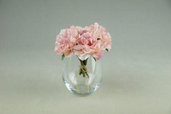 Glas für Blumen und kleine Blumenstrauß für Hochzeit mieten und leihen als Hochzeitsdeko vom Verleih StasEvents bei Frankfurt 4