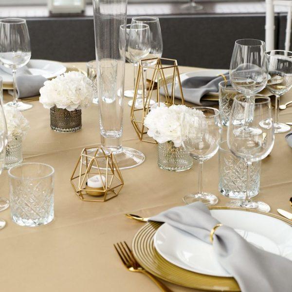 Kerzenhalter Kerzenständer Boho 1 geometrisch gold goldener Kerzen Ständer Bohemian Boho Chic mieten und leihen für Hochzeit beim Dekoverleih 2