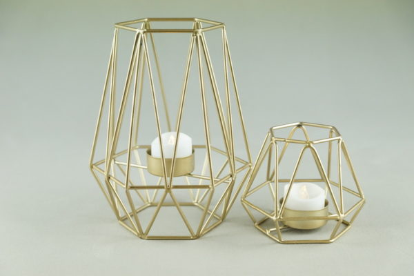 Kerzenständer für Bohemian Chic Hochzeit Boho Kerzenhalter gold draht geometrisch mieten und leihen für hochzeit verleih stasevents one 8