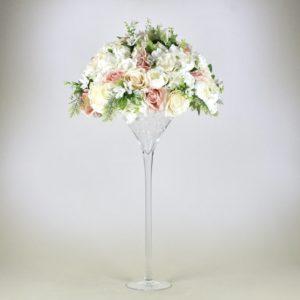 Martini Glas XXL Vase groß für Hochzeit leihen als Tischdeko mieten 70cm und 50cm Dekoration Verleih Schwimmkerzen Blumenvase Mörfelden