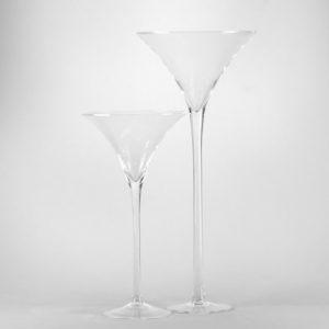 Martini Glas XXL Vase groß für Hochzeit leihen als Tischdeko mieten 70cm und 50cm Dekoration Verleih Schwimmkerzen Blumenvase Wiesbaden