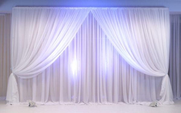 Rückwand und Hintergrund mit LED Lichterketten Zoe für Hochzeit und Event mieten zum Abdecken von StasEvents
