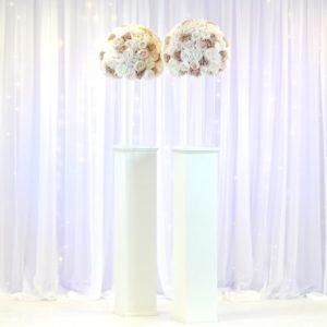 Säule Ständer in weiss mieten für Hochzeit Deko Verleih Hochzeitsdeko leihen StasEvents 2