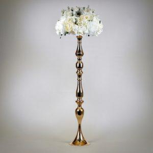 Shine XL Ständer Säule Durchgangsbereich Deko und Dekoration mieten für Hochzeit und freie Trauung in gold kupfer StasEvents1