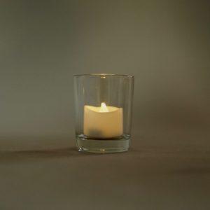 Teelichtglas Glas für Teelicht Tilly mieten und leihen für Hochzeit frankfurt