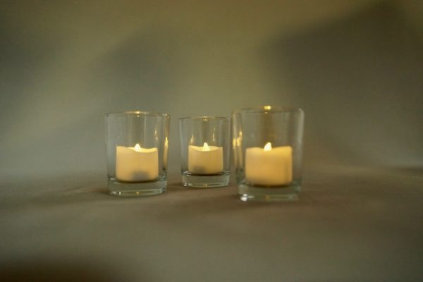 Teelichtglas Glas für Teelicht Tilly mieten und leihen für Hochzeit stasevents