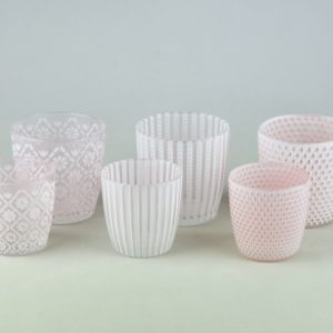 Teelichtglas auf für Blumen geeignet Patty für Vintage Boho Chic Hochzeit leihen und mieten beim Deko Verleih StasEvents