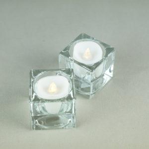 Teelichtglas eckig Teelicht glas würfel quadrat für Hochzeit mieten deko verleih 6