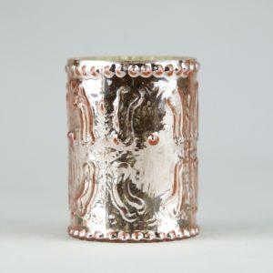 Teelichtglas und Blumenglas Fancy Rose für Hochzeit mieten und leihen mit Muster Vintage Deko Verleih StasEvents