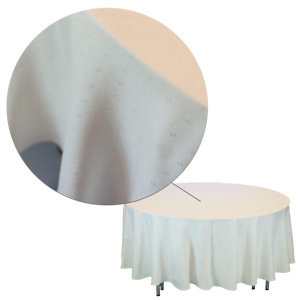 Tischdecke Damast Ausschnitt Hochzeit
