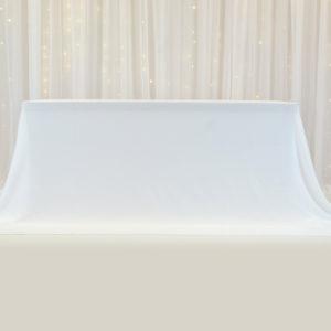 Tischrock glatt für Brautpaartisch leihen Deko mieten Tischwäsche StasEvents 1