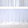 Tischrpck gerafft aus Chiffon oder Voile für Hochzeit Brautpaartisch mieten Verleih 1