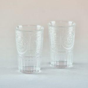 Vintage Glas Boho Chic für Hochzeit deko mieten und leihen Gläser Verleih StasEvents 2
