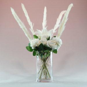 Zylindervase Zylinder Vase aus Glas für Hochzeit für Blumen mieten beim Hochzeitsdeko Verleih 1