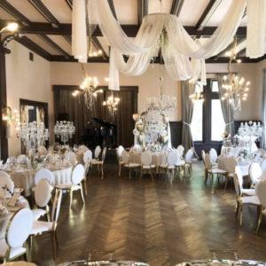 azalea arabella stuhl rund lehne weiss gold luxus luxury mieten hochzeit hochzeitsdeko chiavari sunnydeko gold neu aktuell