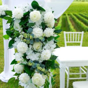 Blumen-Set für Trau- oder Durchgangsbogen (verschiedene Farben)