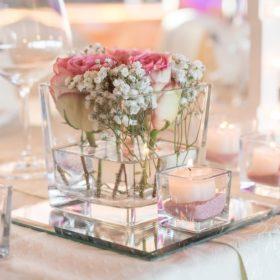 glas vase eckig würfel cubos quadrat blumen kerzen sunnydeko mieten und leihen dekoration