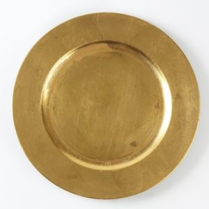 Platzteller in Gold - modern used look (Unterteller)