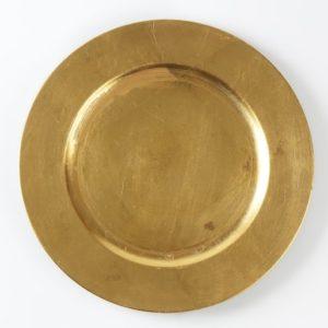 Platzteller in Gold - modern used look (Unterteller)