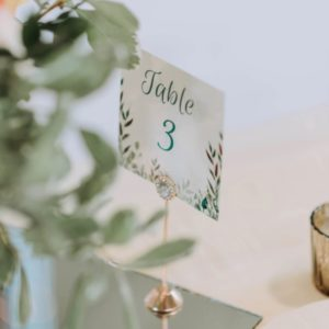 Tischnummern, Geschenkeboxen