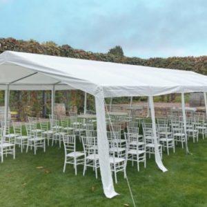 zelt pavillon hochzeit partyzelt mieten für outdoor freie trauung leihen verleih sunnydeko weiss fenster