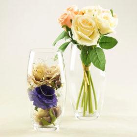 Blumen Glas Vase Jösch für Hochzeit und Event mieten als Tischdeko 1