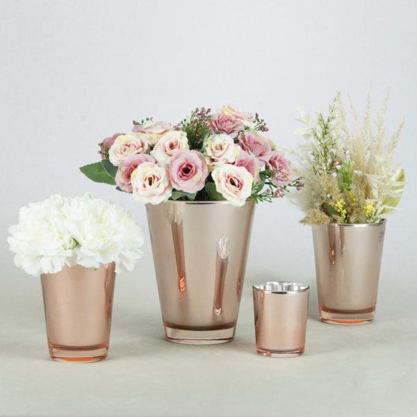 Blumenglas Blumen Glas Rose Taily in rose rosa glas für Blumen mieten und leihen hochzeitsdeko gläser 1