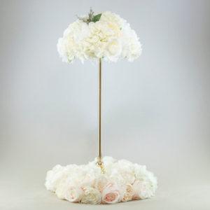 Blumenkranz für Tischdeko Blumen Kranz pastell rosa altrosa leihen und miente Dekoverleih 1