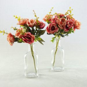 Fläschchen Suqare eckige Flaschen Fläschchen für Blumen Vintage Deko mieten für Hochzeit 2
