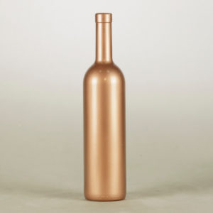 Flaschen Hochzeitsdeko rose rosa gold klar glas Tischdeko Vintage mieten und leihen 1