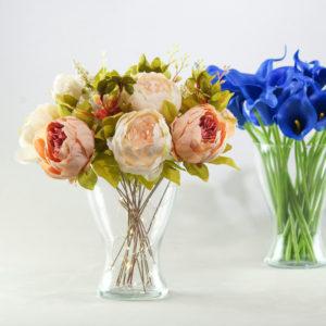 Glas Vase für Blumen Nicky Blumenvase mieten für Hochzeit als Tischdeko Verleih 1