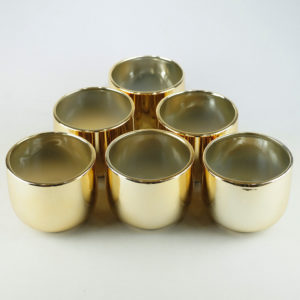 Goldene Vase Sundown für Blumen in gold für Hochzeit leihen und mieten 1