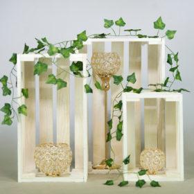 Holzkiste Holz Kiste Holzkisten weiss mieten für Hochzeit Dekoration freie Trauung Verleih 1