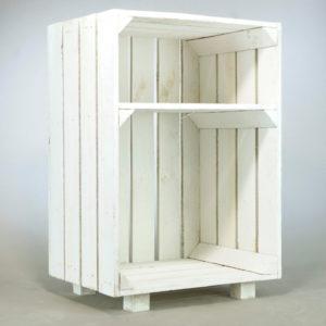 Holzkiste weiss groß xxl weisse Holz kiste mieten und leihen für Hochzeit Deko Vintage 1