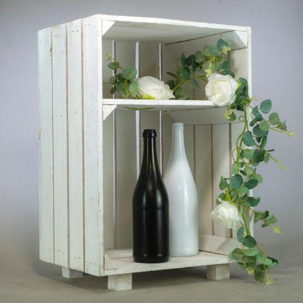 Holzkiste weiss groß xxl weisse Holz kiste mieten und leihen für Hochzeit Deko Vintage 2