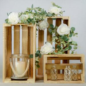 Holzkisten für Hochzeit mieten und leihen als Holzkiste dekoration freie Trauung und Verleih 1