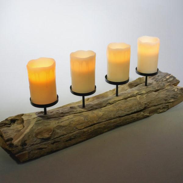 Kerzen halter ständer kerzenständer kerzenhalter aus holz deko vintage mieten für hochzeit verleih 3