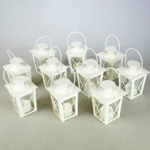 Laterne Windlicht Set Family Classic in weiss für Hochzeit mieten und Dekoration leihen beim Deko Verleih 5