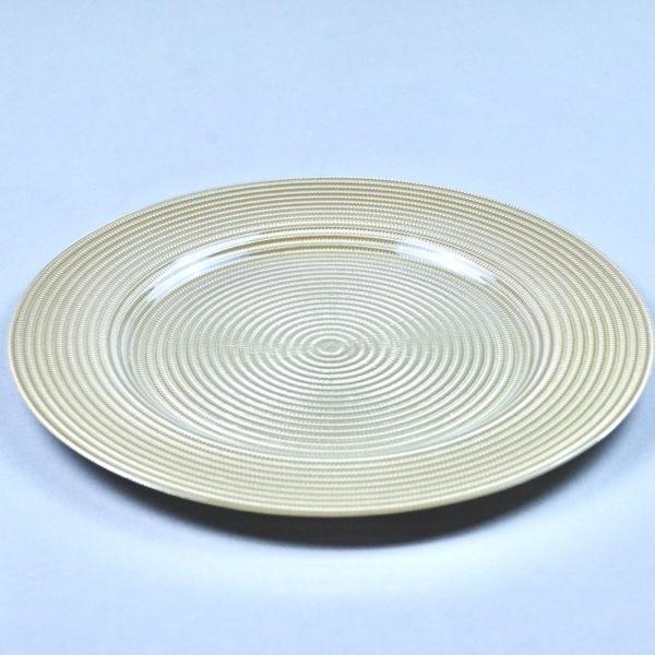 Platzteller aus Glas in der Farbe Gold für Hochzeit mieten als Unterteller für die Tischdeko leihen Hochzeitsdeko Verleih 2