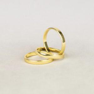 Servietten Ring in gold klassisch für Stoffservietten für eure Hochzeit und Event mieten beim Dekorations Verleih 1
